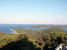 Southeast part of island Ist and view on island Molat.jpg
