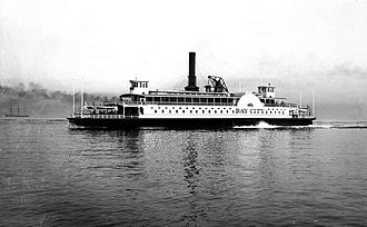 Ferries of San Francisco Bay - Image: Southern Pacific Bay City ferry circa 1885