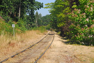 Southern Railway of Vancouver Island - The railway running through Chemainus