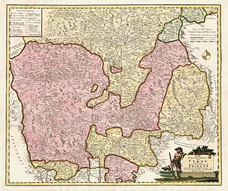 Bishopric of Trent - The Principality of Trent (in pink) in 1804