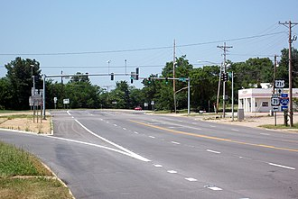 Special routes of U.S. Route 71 - Image: Southern terminus of US 71B, Fayetteville, AR