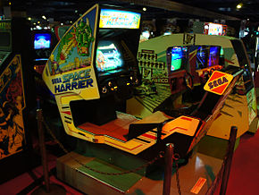 Borne d'arcade Space Harrier.