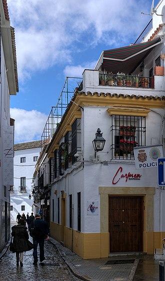 Al-Zahrawi - Calle Albucasis street at Cordova.