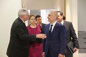Ilir Meta - OSCE Secretary General gives a tour to Ilir Meta.