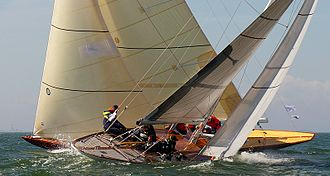 8 Metre (keelboat) - The Finnish eights Sphinx (FIN–4) and Sagitta (FIN–2) competing in 2012.