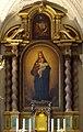 """St. Andreas Düsseldorf, Altarbild Seitenaltar links """"Himmelskönigin"""" von Ernst Deger.jpg"""