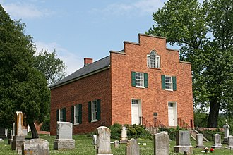 Point of Rocks, Maryland - Historic St. Paul's Episcopal Church, built in 1841 by enslaved men and women of the Duval Plantation and consecrated in 1843. Listed on the National Register of Historic Places.