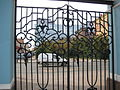 St. Petersburg. Lattice fence gate Sampson Cathedral. 1909.JPG