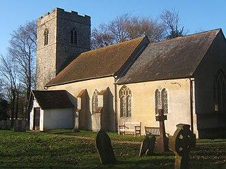John Stoughton (priest) - St Mary's church, Naughton, where Thomas Stoughton was rector and his son John was baptized in 1593