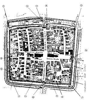 Neustadt an der Donau - Plan of the city from 1819.