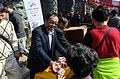 Staff of Songshan Ciyou Temple Sharing Gifts to Visitors in Chinese New Year 20170128.jpg