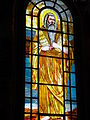 Stained glsss window at Church of the Heavenly Sharm el-Sheikh.JPG
