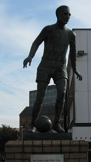 Stanley Matthews - The statue of Stanley Matthews at Hanley town centre.