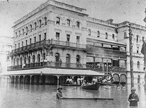 John H. Buckeridge - Image: State Lib Qld 1 54472 Gresham Hotel during the 1893 flood