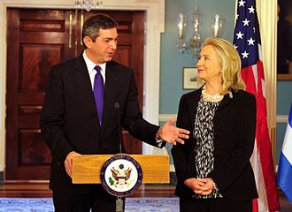 Stavros Lambrinidis - Foreign Minister of Greece, Stavros Lambrinidis, with U.S. Secretary of State Hillary Clinton joint press conference State Department October 2011