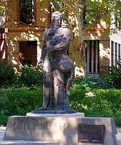 Statue of Gilgamesh on grounds of University of Sydney