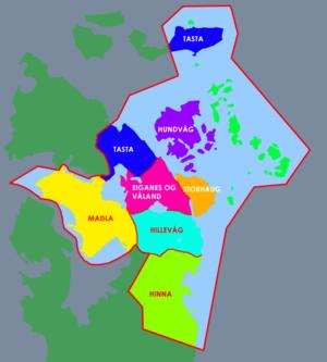 Stavanger bydelskart