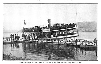 Lake Township, Luzerne County, Pennsylvania - A steamboat on Harveys Lake (ca 1910)