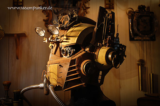 Steampunk transformer helmet