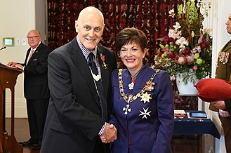 Steve Sumner - Sumner in 2016, after his investiture as an Officer of the New Zealand Order of Merit by the governor-general, Dame Patsy Reddy