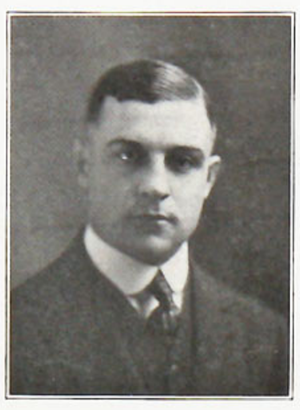"Stewart Clark - Clark pictured in the '""Crimson Rambler 1921, Carthage yearbook"