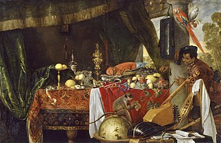 Still Life with Moor and Parrot
