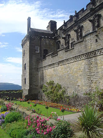 Castle gardens in front of the Prince's Tower Stirling Castle dsc06629.jpg