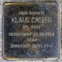 Photo of Klaus Casper brass plaque