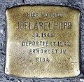 Stolperstein Badstr 64 (Gesbr) Joel Abel Hopp.jpg