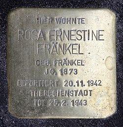 Photo of Rosa Ernestine Fränkel brass plaque