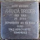 Stolperstein für Amanda Broder