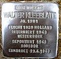 Stolpersteine Dortmund Lindenhorster Straße 237 Walter Kleeblatt.jpg