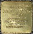 Stolpersteine Köln. Joseph Sussmann (Lütticher Straße 16).jpg