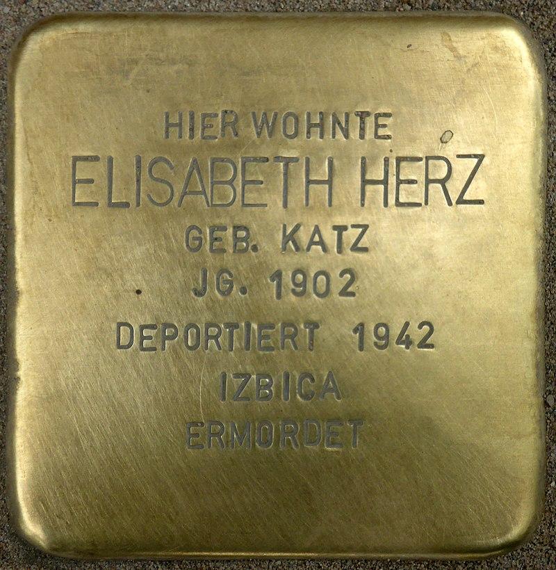 Stolperstein für Elisabeth Herz (Bahnhofstraße 48)