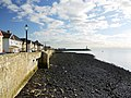 Stony beach below the Town Wall sea defences - geograph.org.uk - 1606440.jpg