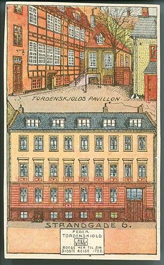 Lehn House - Print commemorating Tordenslkold's association with the property