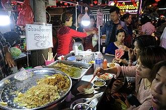Street food - Street food in Yangon Chinatown.