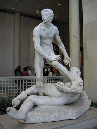 George Grey Barnard - Struggle of the Two Natures in Man (marble, 1892–94), Metropolitan Museum of Art.