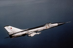 Interceptor aircraft - Su-15, one of the principal Soviet Air Defence interceptors in the 1970s and 80s.