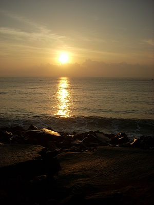 This is clicked at sunrise in pondicherry