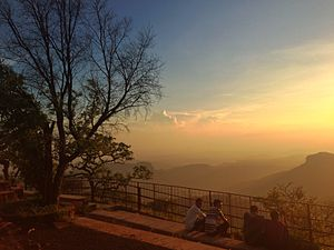 Pachmarhi - Sunset Point at Pachmarhi