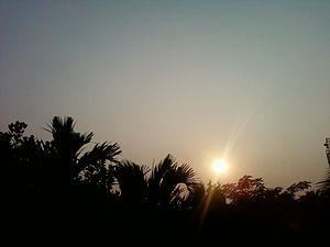 Nalbari - Image: Sunset at Nalbari