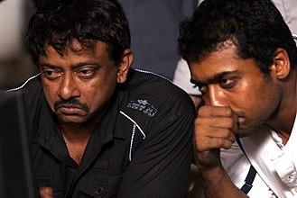 Ram Gopal Varma - Ram Gopal Varma with Suriya on the sets of Rakta Charitra