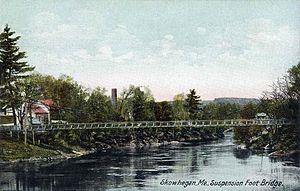 Skowhegan, Maine - Swinging Bridge c. 1908