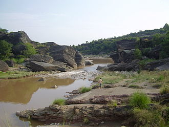 Soan River - One of the many gorges of the Soan River