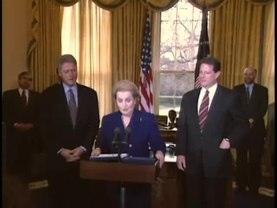 Archivo:Swearing In of Madeleine Albright as Sec. of State (1997).webm