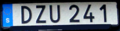 Swedish euro license plate2014.png