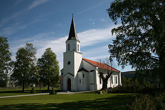 A Very Short War - Sylling Church in Buskerud, Norway, where the nine RAF airmen are buried.
