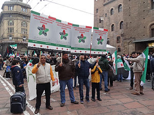 National Coalition for Syrian Revolutionary and Opposition Forces - Supporters of the Coalition in Bologna, Italy