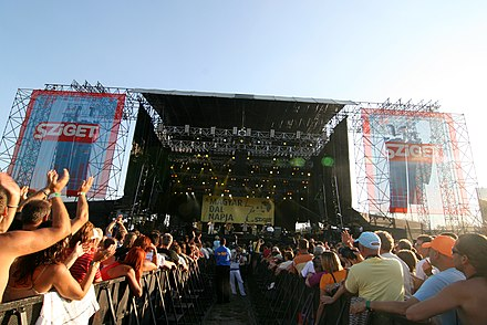 Sziget Festival Budapest. One of the largest music festivals in Europe provides a multicultural, diverse meeting point for locals and foreigners every year. Sziget Magyar Dal.jpg